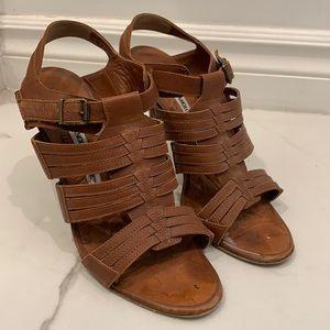 Manolo Blahnik Strappy Leather Heels Size 39